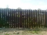забор из штакетника, высота 1,7 м